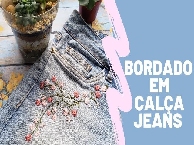 Bordar Flores Em Calça Jeans 2
