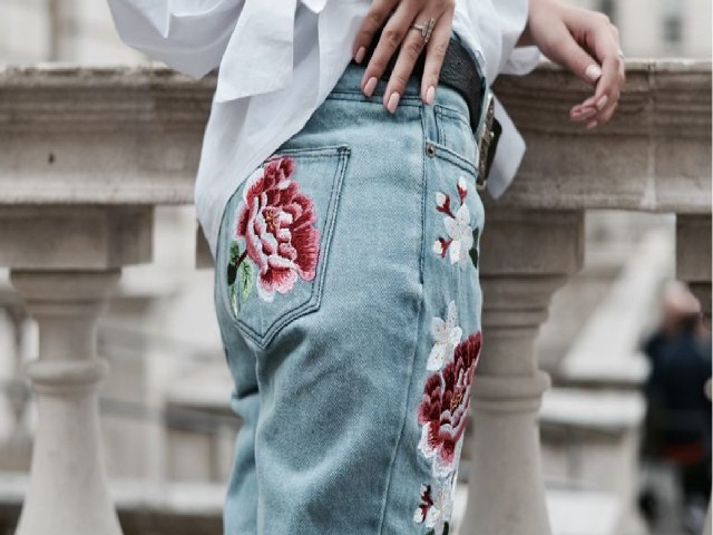 Bordar Flores Em Calça Jeans 5