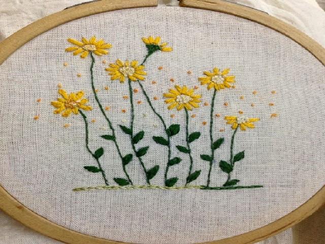 Bordar Flores Em Ponto Cheio 3