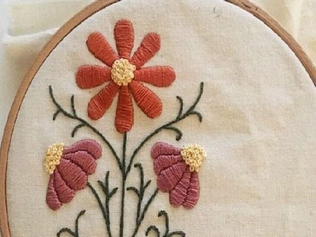 Bordar Flores Em Ponto Cheio 7