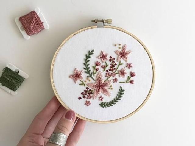 Bordar Flores Em Ponto Cheio 9