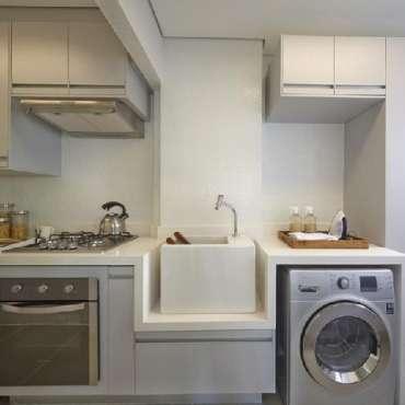 Cozinha com Lavanderia – VEJA 50 FOTOS INCRÍVEIS!