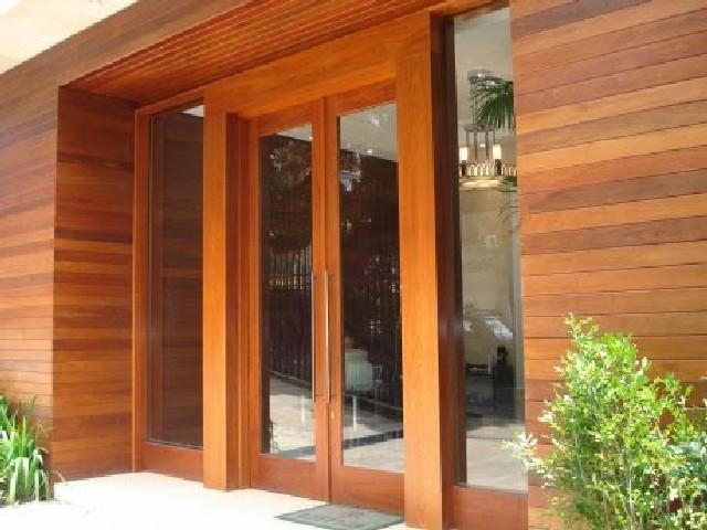 Porta De Entrada De Madeira Moderna3