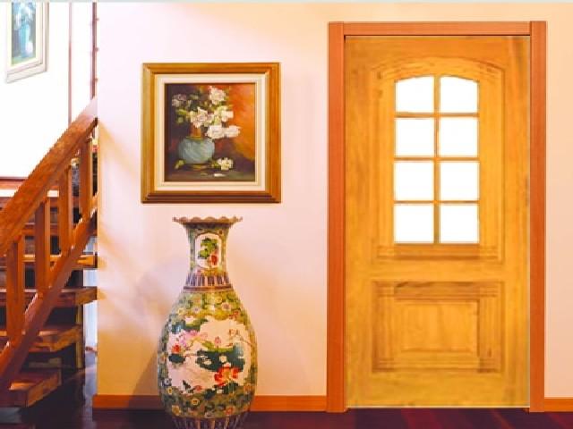 Porta De Entrada De Madeira Simples2