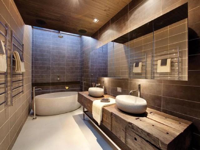 Banheiro Moderno E Rústico2
