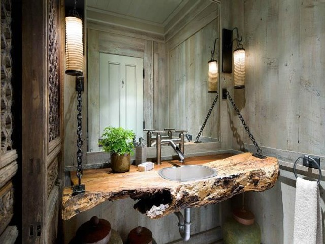 Banheiros Rústicos Com Pedras2