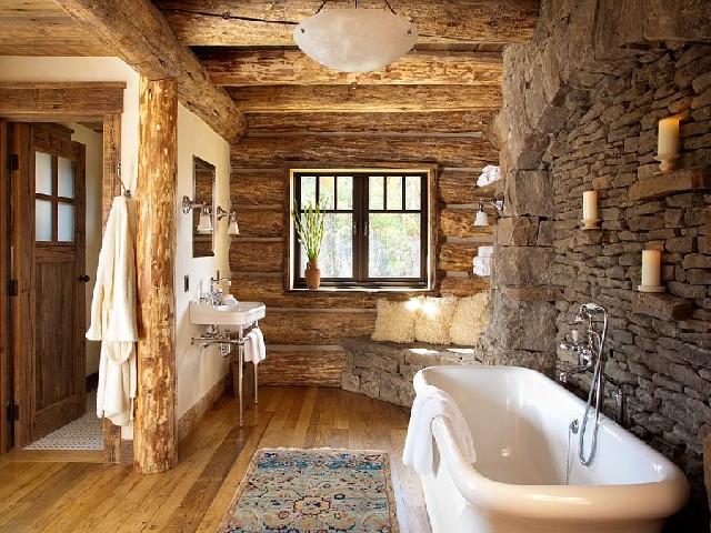Banheiros Rústicos Com Pedras3