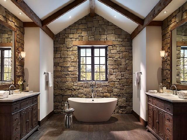 Banheiros Rústicos Com Pedras4