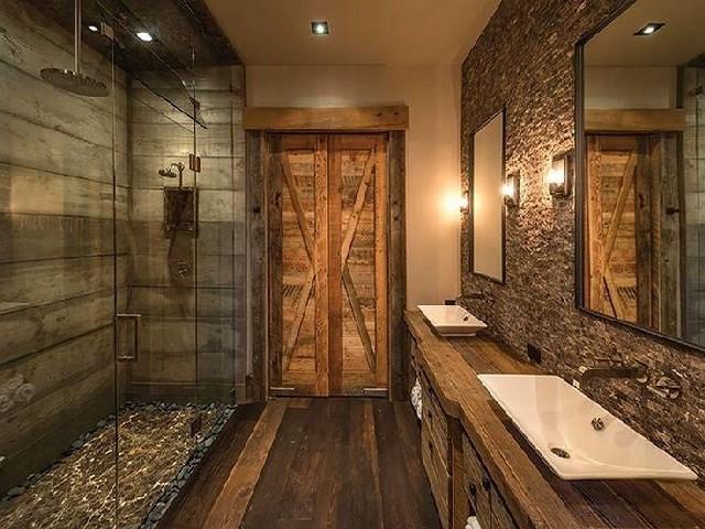 Banheiros Rústicos Com Detalhes Modernos1