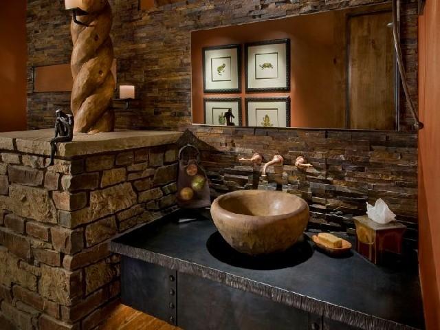 Banheiros Rústicos Usando Elementos Naturais1