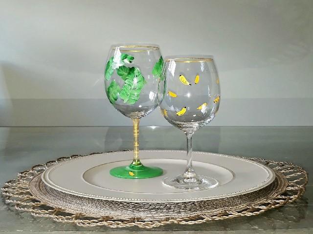 Pintura Em Taças De Vinho1