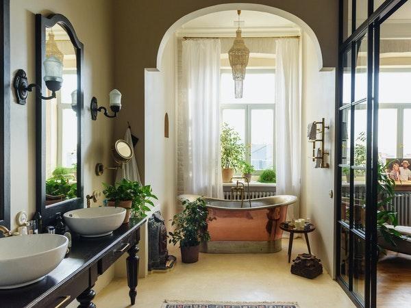 banheiro decorado estilo vintage