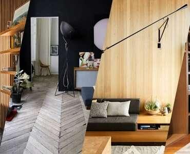 Como usar a madeira sem deixar o espaço pesado?