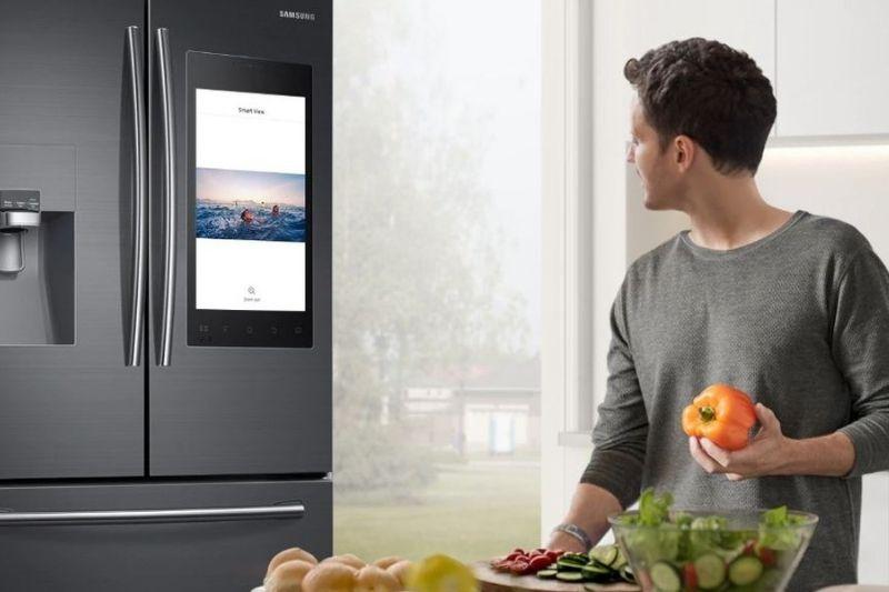 onde comprar uma geladeira smart samsung